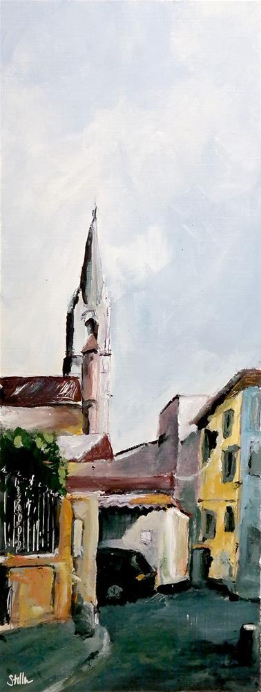"""2357 From Sketch to Painting - Village"" original fine art by Dietmar Stiller"