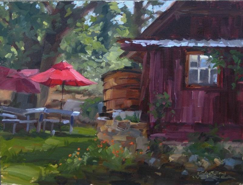 """""""Cider Mill Morning"""" original fine art by Karen Werner"""