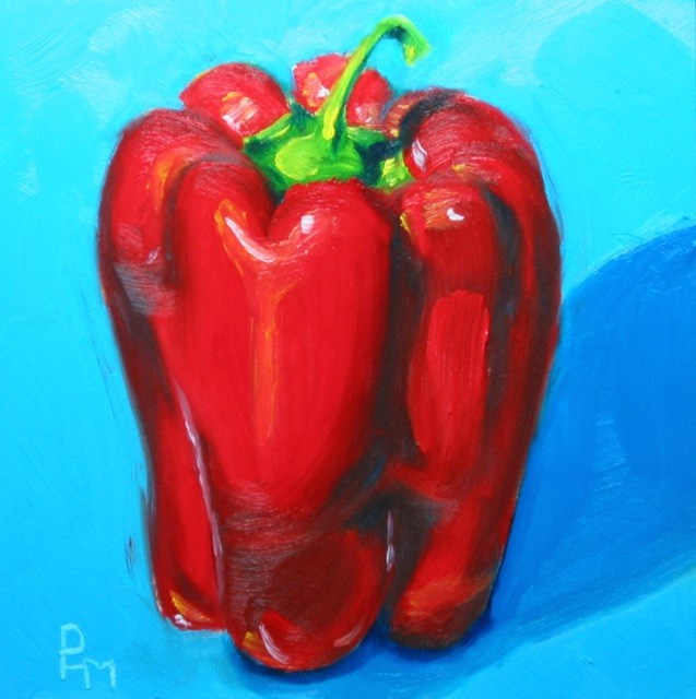 """Big Red"" original fine art by Patricia Murray"
