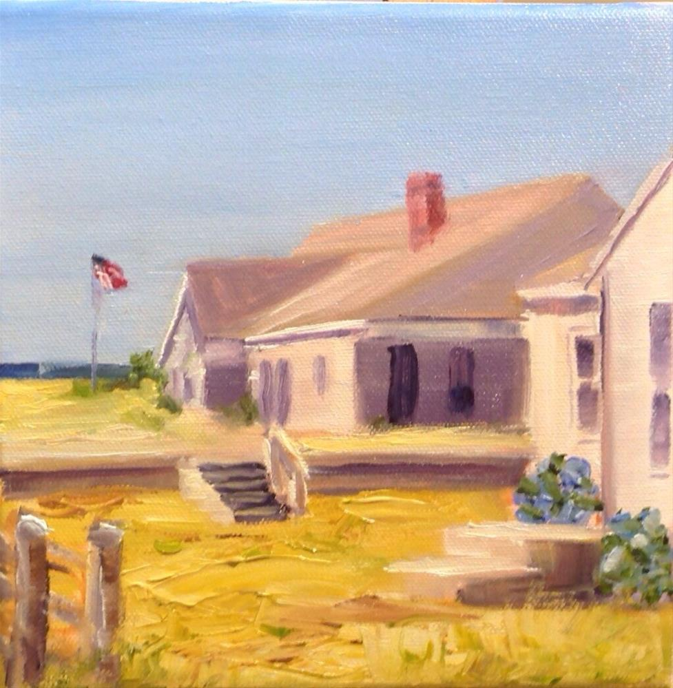 """""""Craigville Beach Cottage"""" original fine art by Debra Kennedy"""