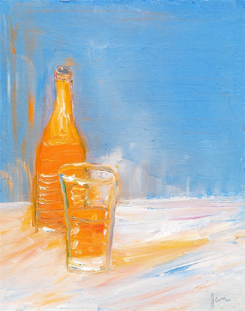 """Orange Soda"" original fine art by Janet Gunderson"