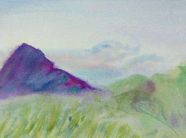 """Sharptop Mountain Fog"" original fine art by Maria Peagler"