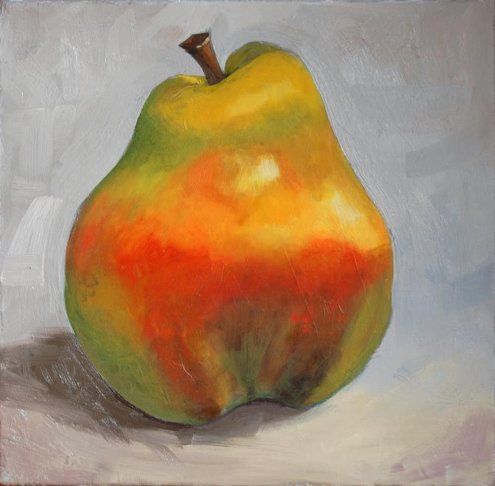 """Last Pear for Now"" original fine art by Miriam Hill"