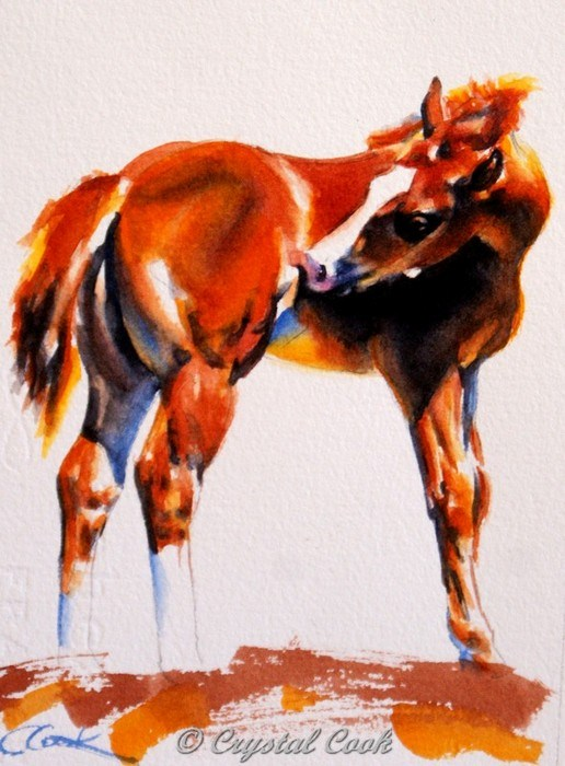 """""""Almost Got It"""" original fine art by Crystal Cook"""