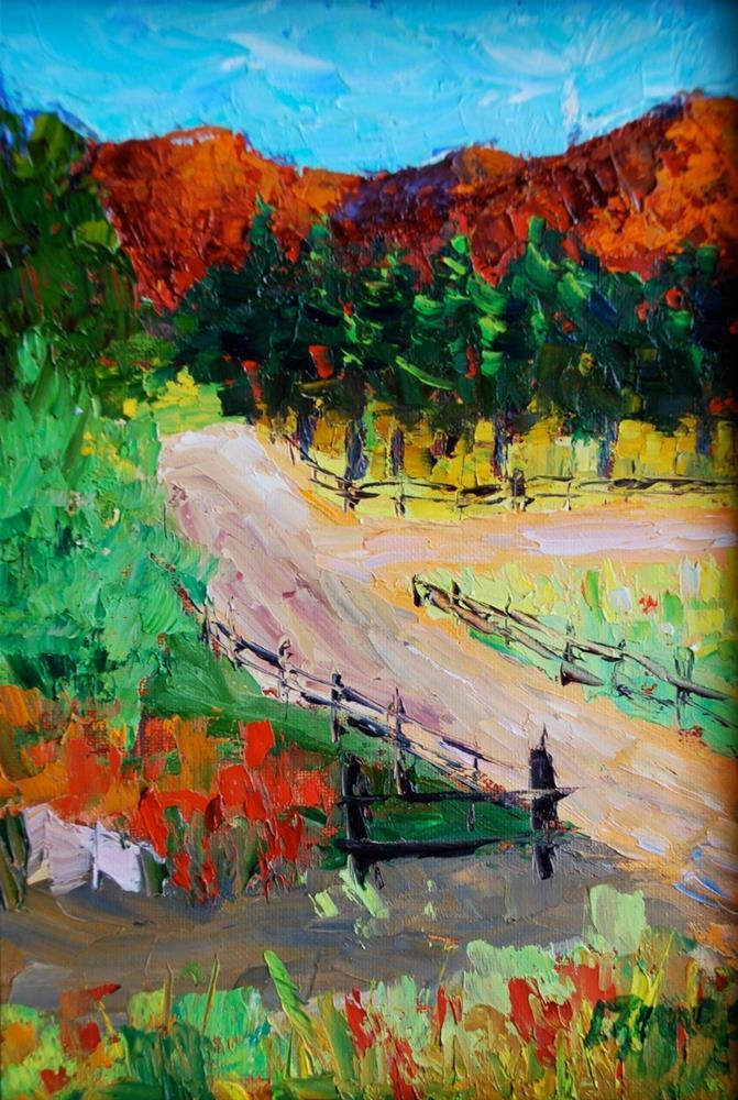"""""""Estes Park Vista"""" original fine art by Liz Zornes"""