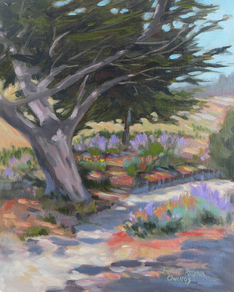 """Cypress By the Path"" original fine art by Rhett Regina Owings"