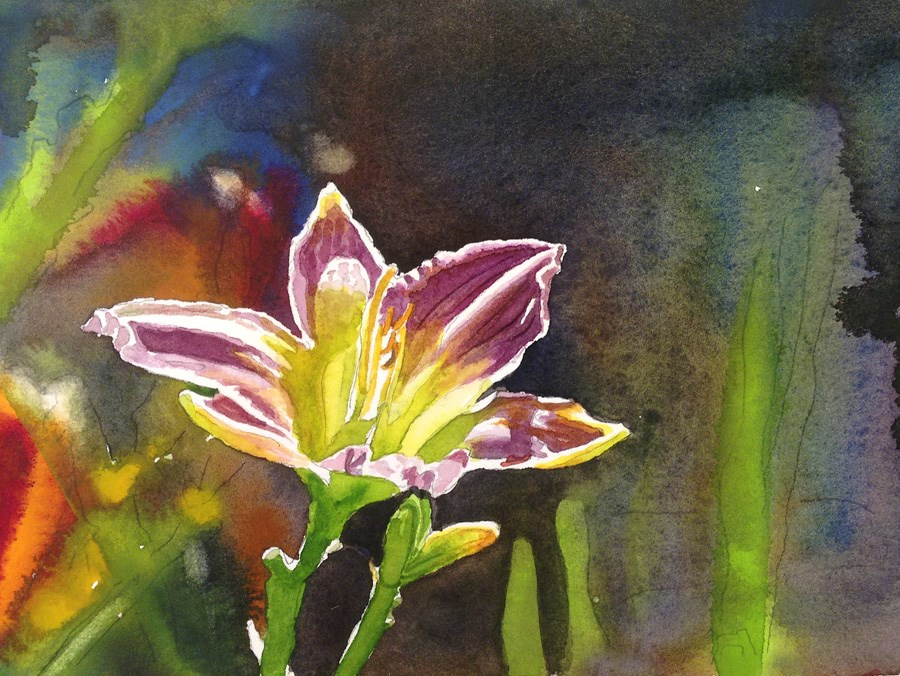 """""""Lily of the Day"""" original fine art by Andy Sewell"""