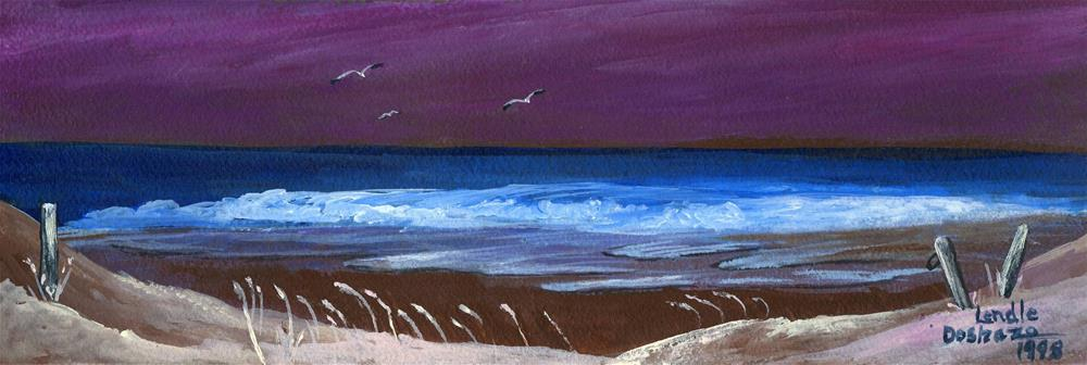 """Ocean At Night"" original fine art by Lendel Holmes"