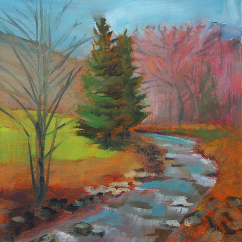 """Babbling Brook"" original fine art by Christine Holzschuh"