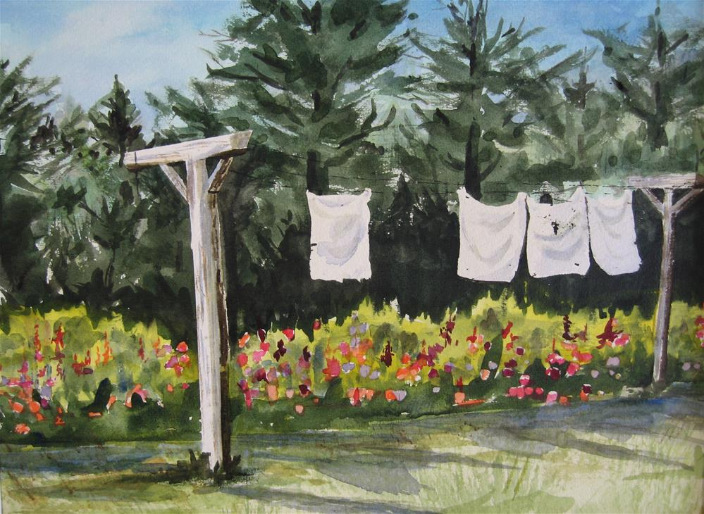 """Maid's Day Off"" original fine art by Judith Freeman Clark"