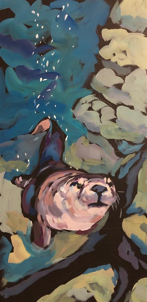 """""""The Quiet Below The Surface"""" original fine art by Kat Corrigan"""