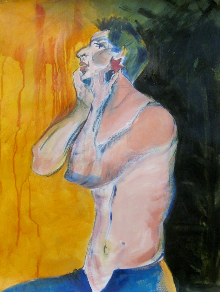 """The Star"" original fine art by Carol Wiley"