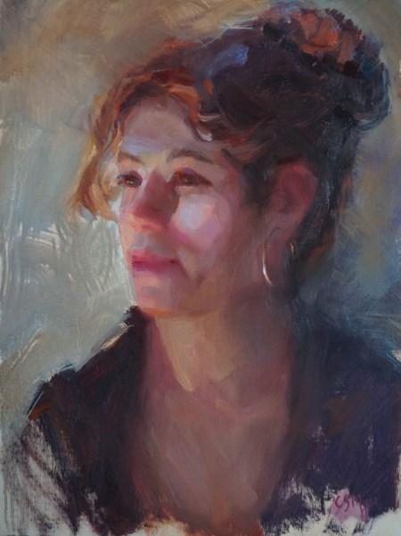 """Alison"" original fine art by Carol Myer"