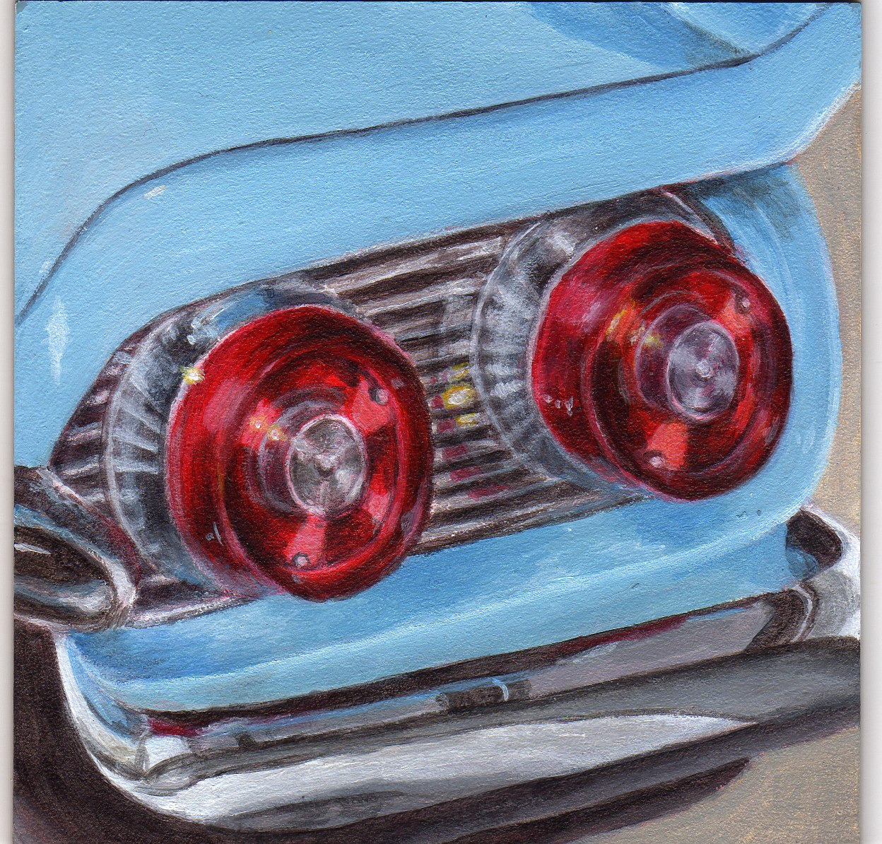 """Rear Reflections"" original fine art by Debbie Shirley"