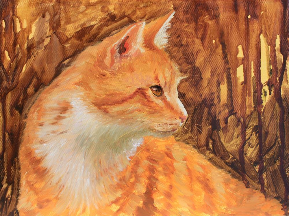 """Cat challenge"" original fine art by Marco Vazquez"