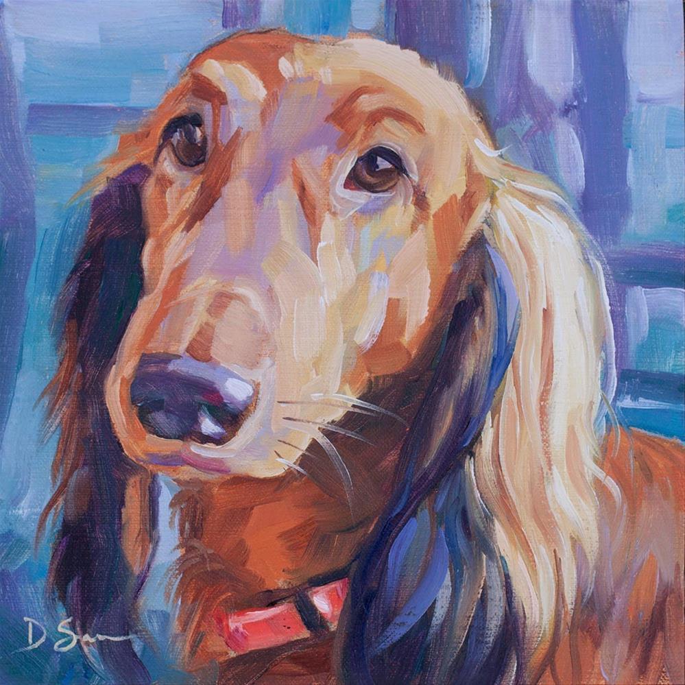 """Frenchy"" original fine art by Deborah Savo"