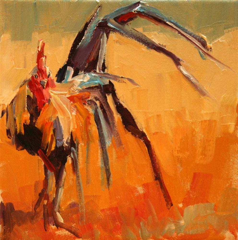 """frenzied"" original fine art by Carol Carmichael"