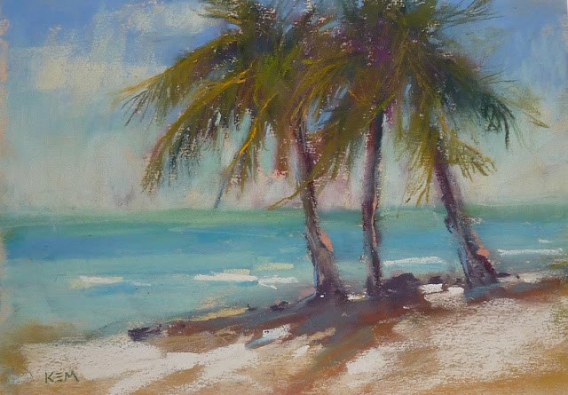 """Come Paint with me in Sunny Florida!"" original fine art by Karen Margulis"