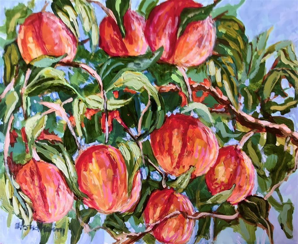 """Peach Tree"" original fine art by Linda Blondheim"