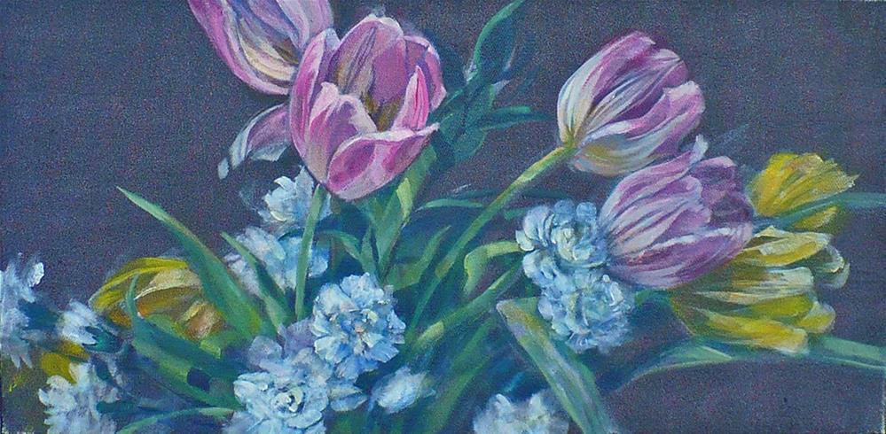 """""""Spring Breezes (framed)"""" original fine art by Nicoletta Baumeister"""