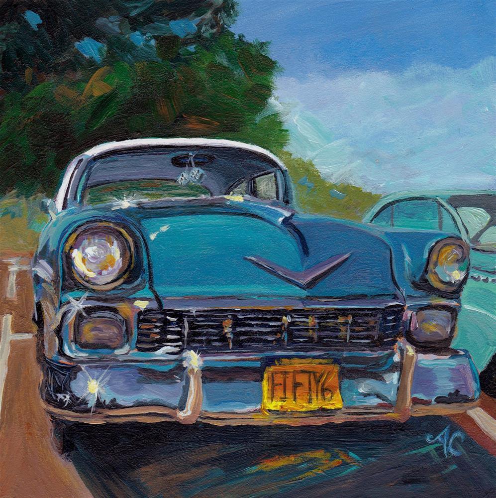 """""""'56 Chevy"""" original fine art by Anna Castelli"""