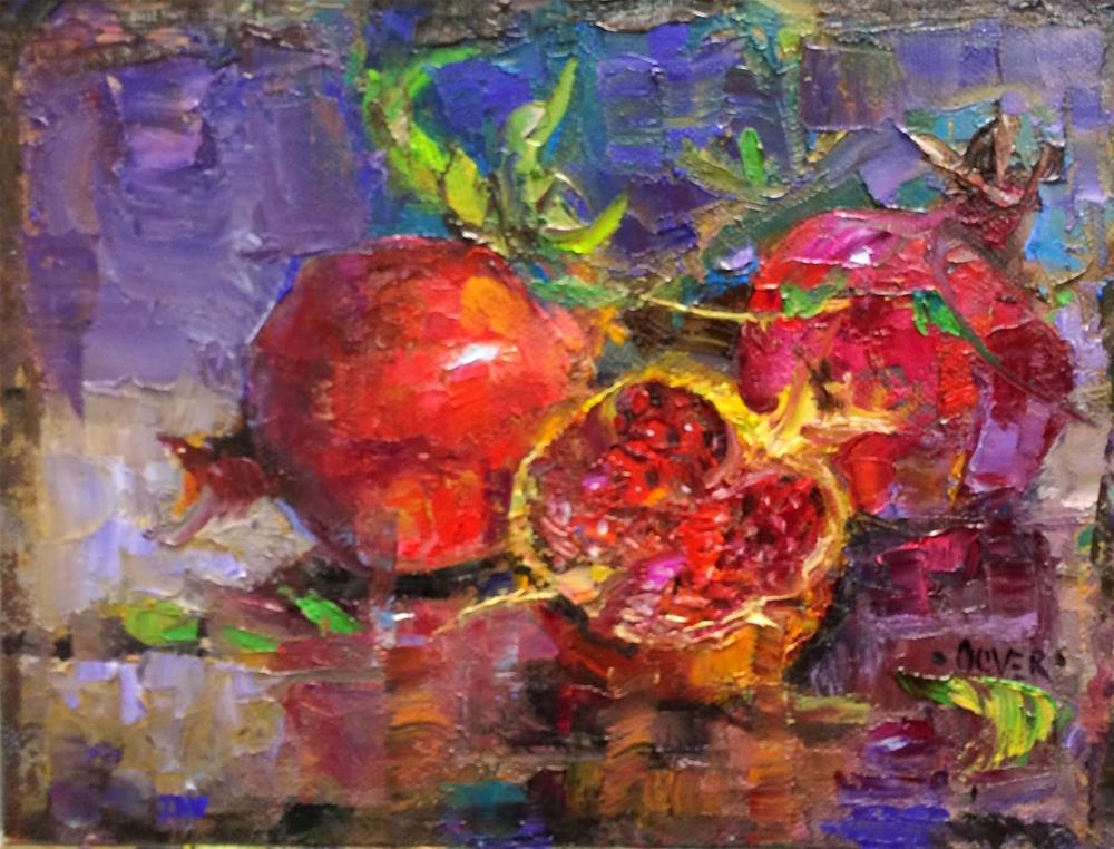 """""""Pomegranate Trio - day 26 in the challenge"""" original fine art by Julie Ford Oliver"""
