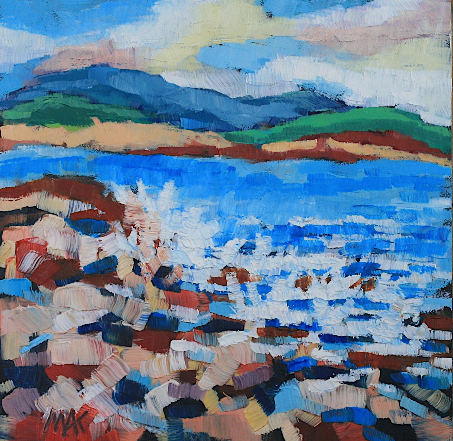 """Coastal Confluence"" original fine art by Mary Anne Cary"