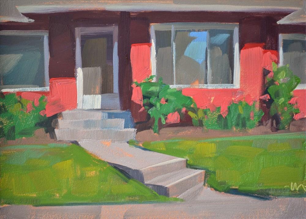 """Jane Doe's House"" original fine art by Carol Marine"
