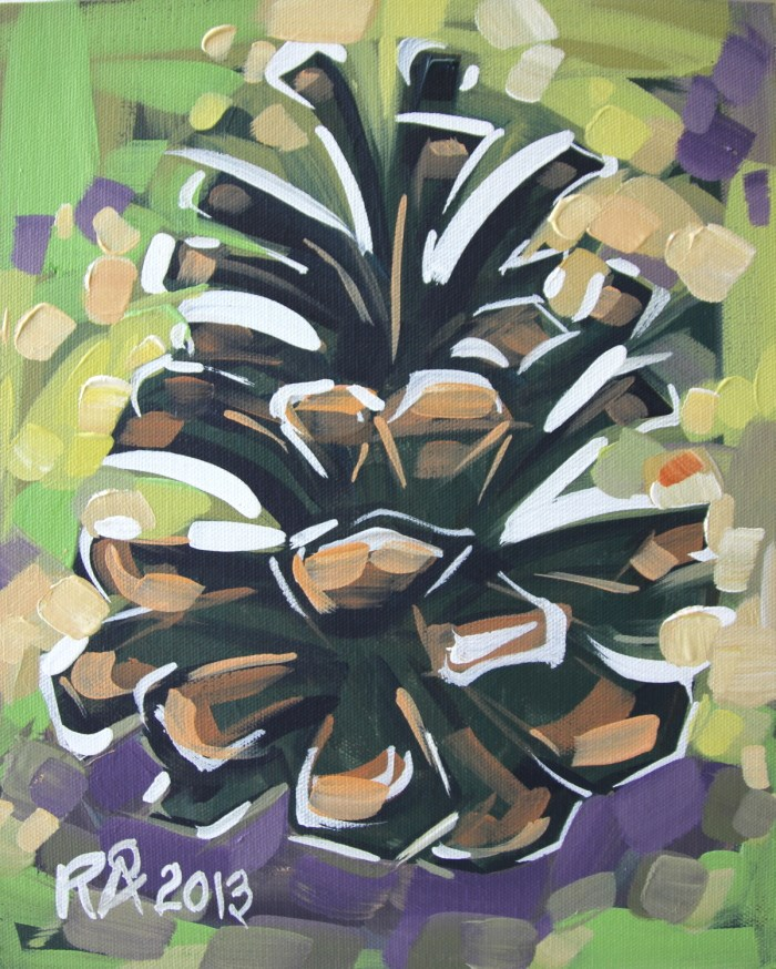 """""""Pine Cone Abstraction 5"""" original fine art by Roger Akesson"""