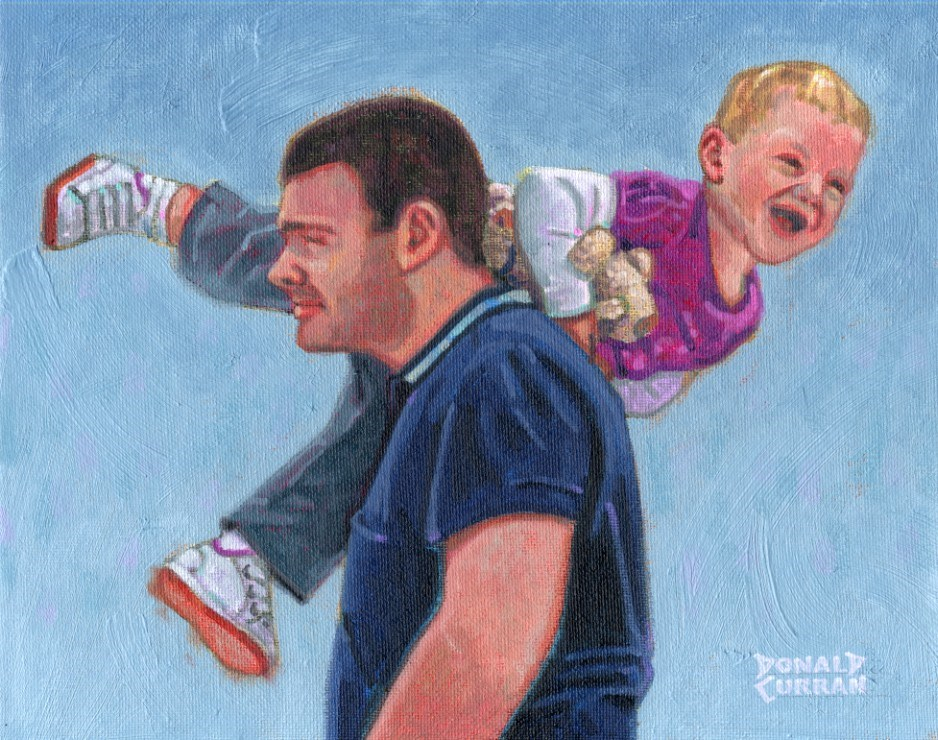 """""""Me and Dad"""" original fine art by Donald Curran"""