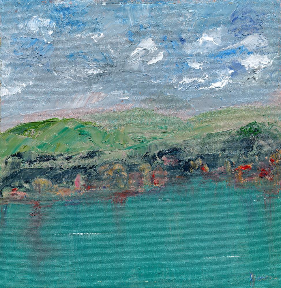 """Flower Lake"" original fine art by Janet Gunderson"
