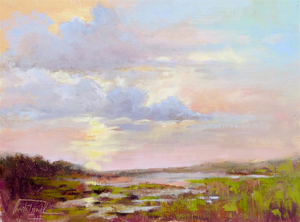 """Sunrise at Indian Pass, Florida"" original fine art by Christa Friedl"
