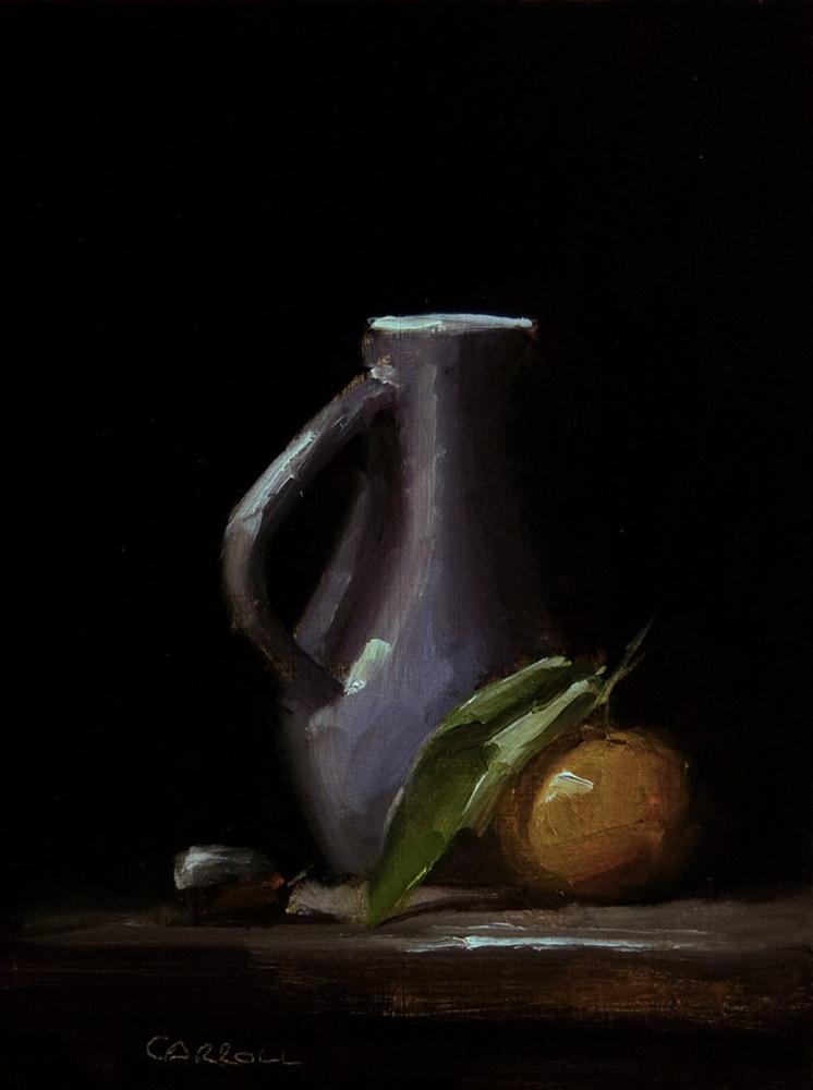 """Jug with Clementine"" original fine art by Neil Carroll"