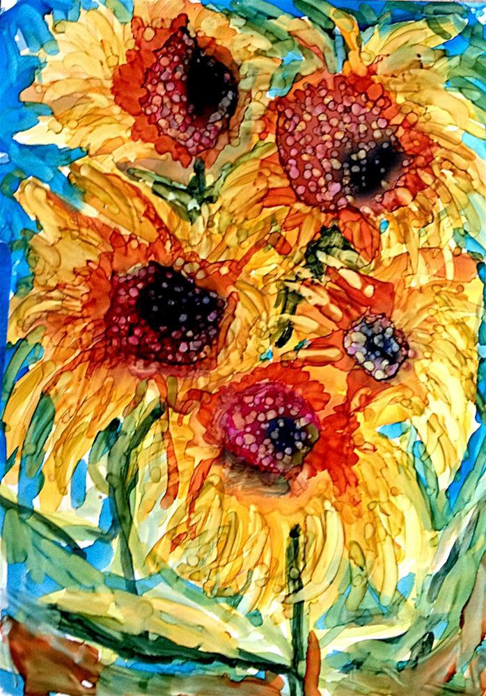 """""""More Sunflowers"""" original fine art by Kristen Dukat"""