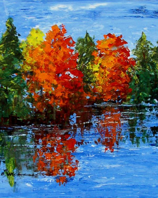 """Maple Reflections"" original fine art by Anna Vreman"