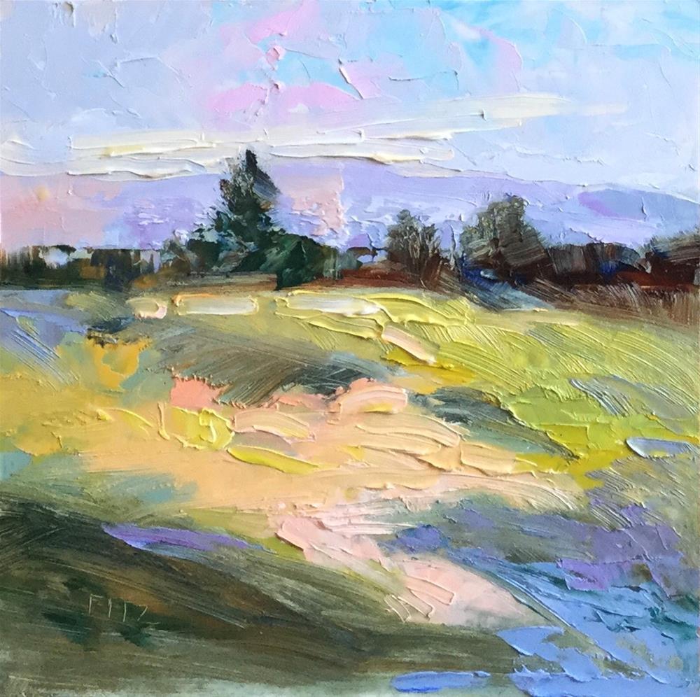"""Impasto Landscape 42"" original fine art by Charlotte Fitzgerald"
