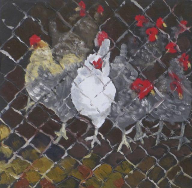 """""""The Dixie Chicks"""" original fine art by Judy Elias"""