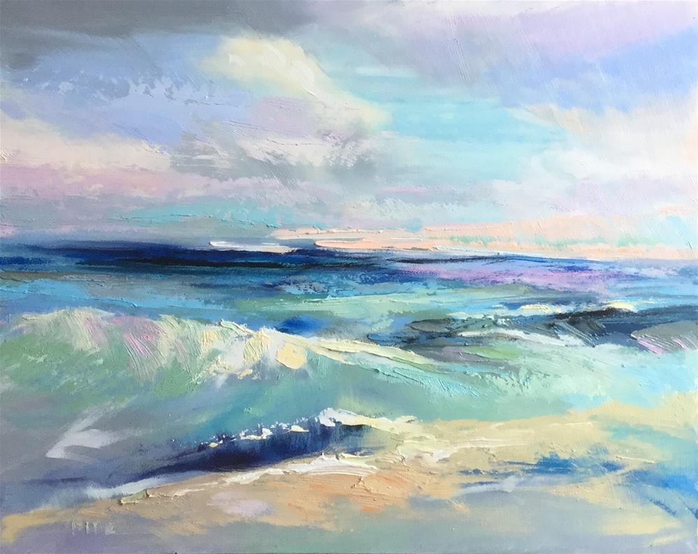 """Waves 2"" original fine art by Charlotte Fitzgerald"