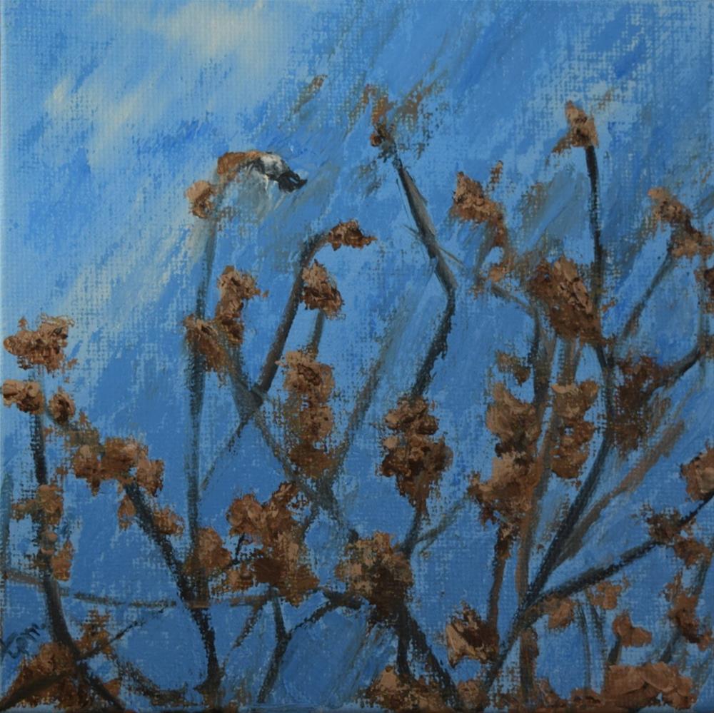 """Hanging On"" original fine art by Tisha Mark"