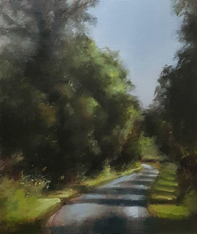 """Country Lane"" original fine art by Neil Carroll"
