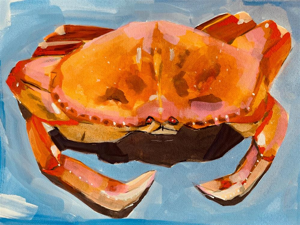 """691 Dungeness Crab"" original fine art by Jenny Doh"