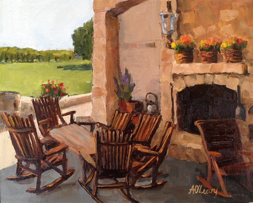 """""""Vineyard View"""" original fine art by Alice O'Leary"""