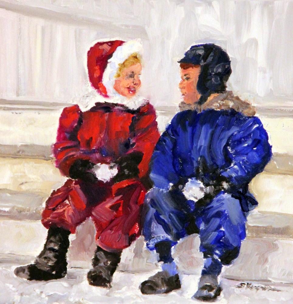 """""""Best Friends"""" original fine art by Shelley Koopmann"""