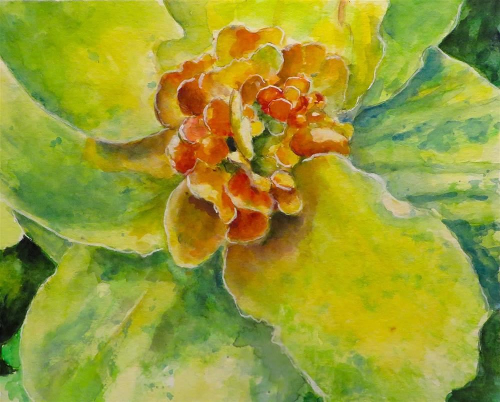"""814 The Color of Citron"" original fine art by Diane Campion"
