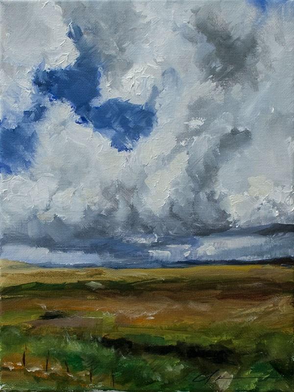 """""""Landscape Challenge 3"""" original fine art by Clair Hartmann"""