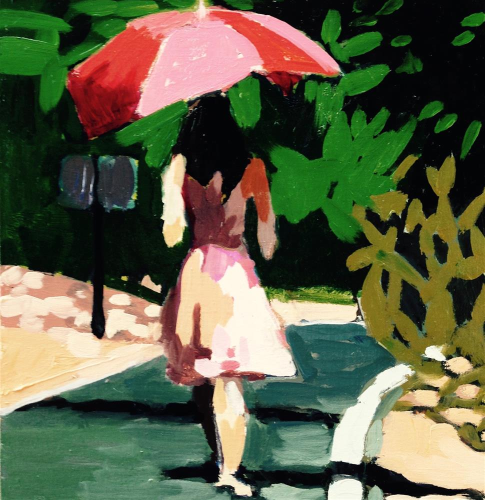 """Parasol Sashay"" original fine art by Pamela Hoffmeister"
