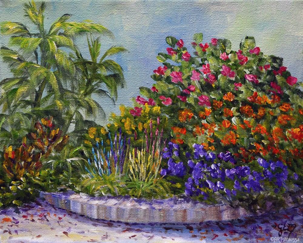 """""""SALE!!!Giardino Di Colore"""" original fine art by Gloria Ester"""