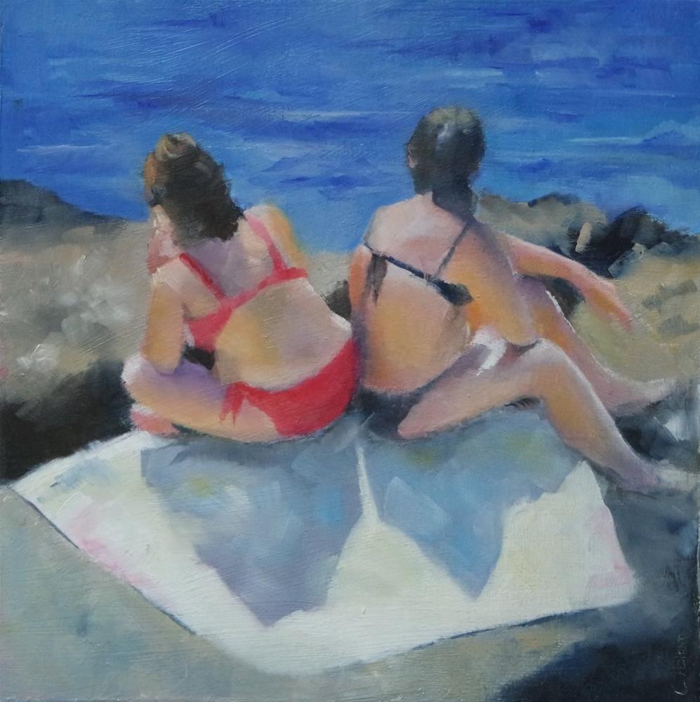 """Sun seekers"" original fine art by Cathy Holtom"