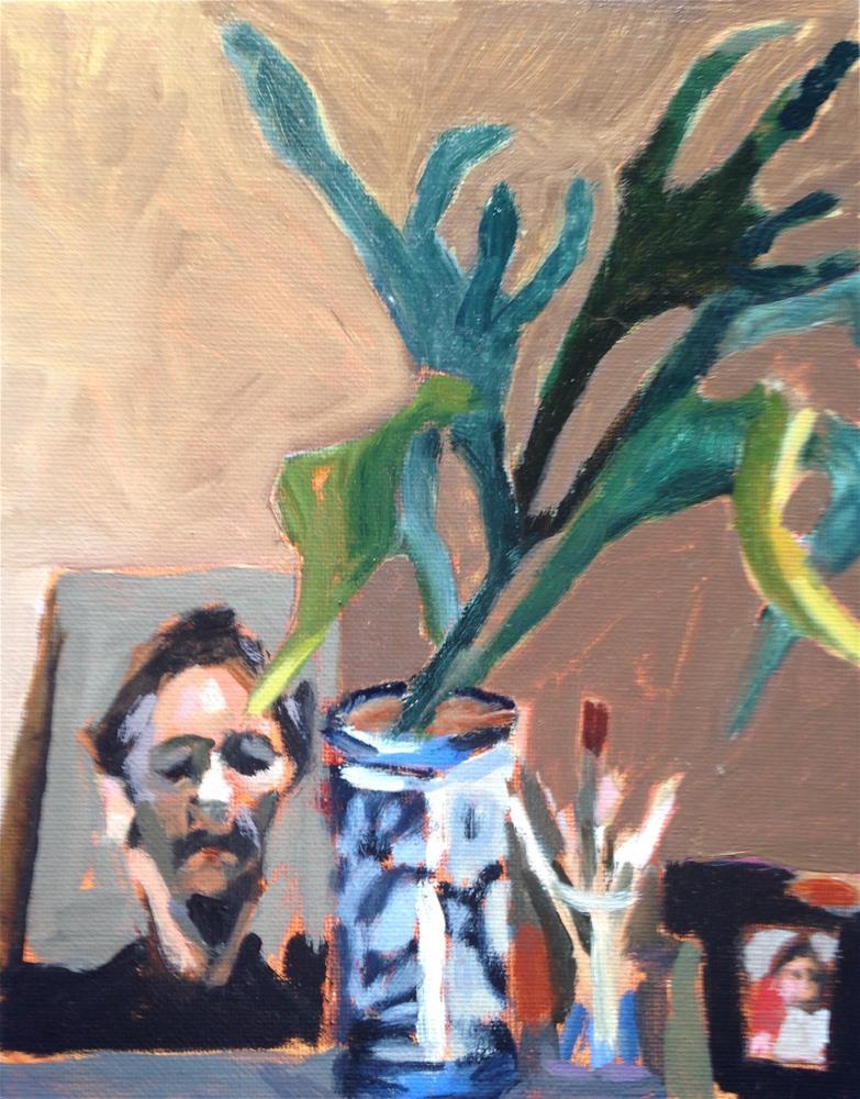 """Staghorn Fern"" original fine art by Pamela Hoffmeister"
