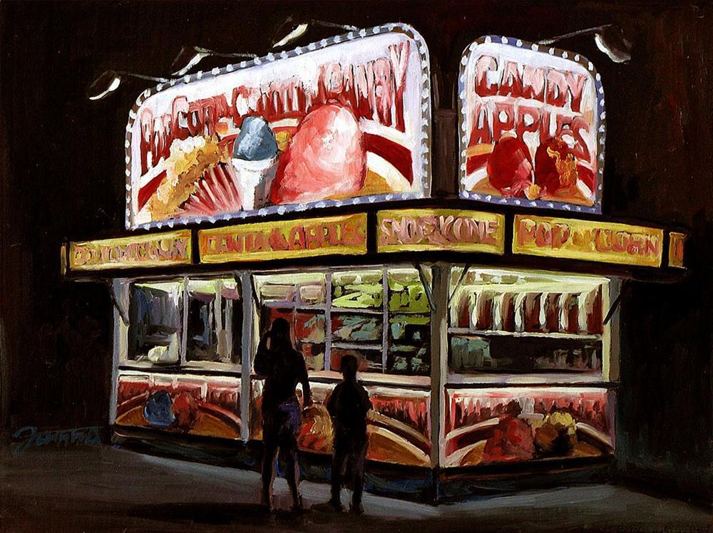 """Candy Apple Kiosk"" original fine art by Joanna Bingham"